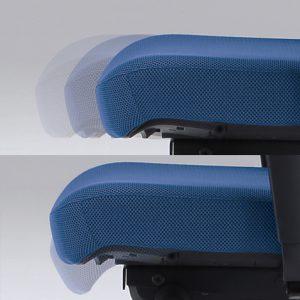 Ergonominė kėdė X-trans su sėdynės gylio reguliavimo sistema.