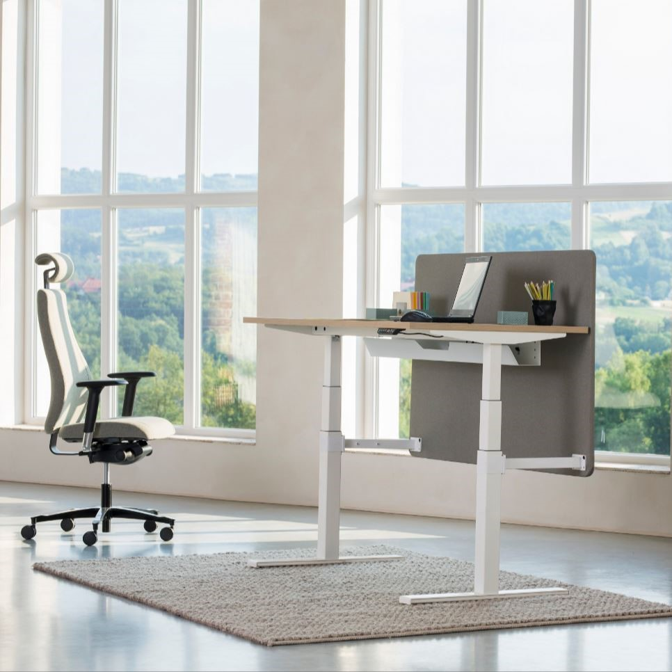 Reguliuojamas biuro stalas eModel.