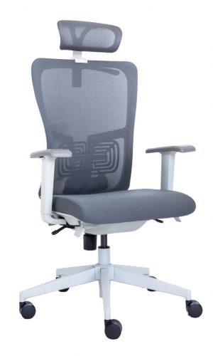 Ergonominė kėdė Rivö HRU white su baltu rėmu.