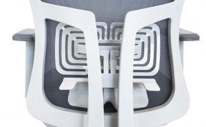 Ergonominė kėdė Rivo HRU white su reguliuojama juosmens atrama.
