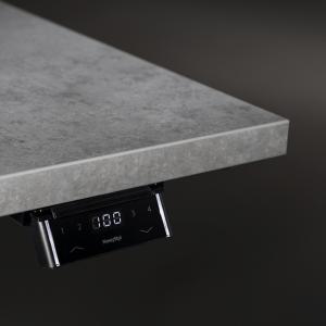 Ergonominio stalo eModel aukščio reguliavimo skydelis.