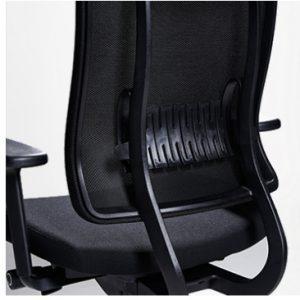 Ergonominė kėdė X-trans white su reguliuojama juosmens atrama.