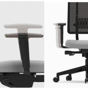 Ergonominė biuro kėdė.