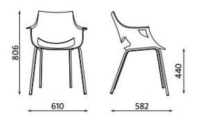 Konferencinė kėdė Fano iš plastiko.