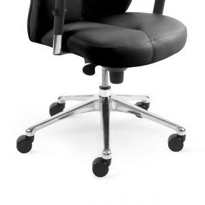 Vadovo kėdė Sonata XXL su poliruoto aliuminio pagrindu.