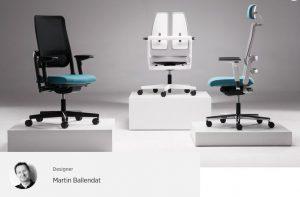 Ergonominė kėdė Xilium- dizaineris M. Ballendat.