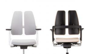 Ergonominė kėdė Xilium Duo Back su dvigubu atlošu.