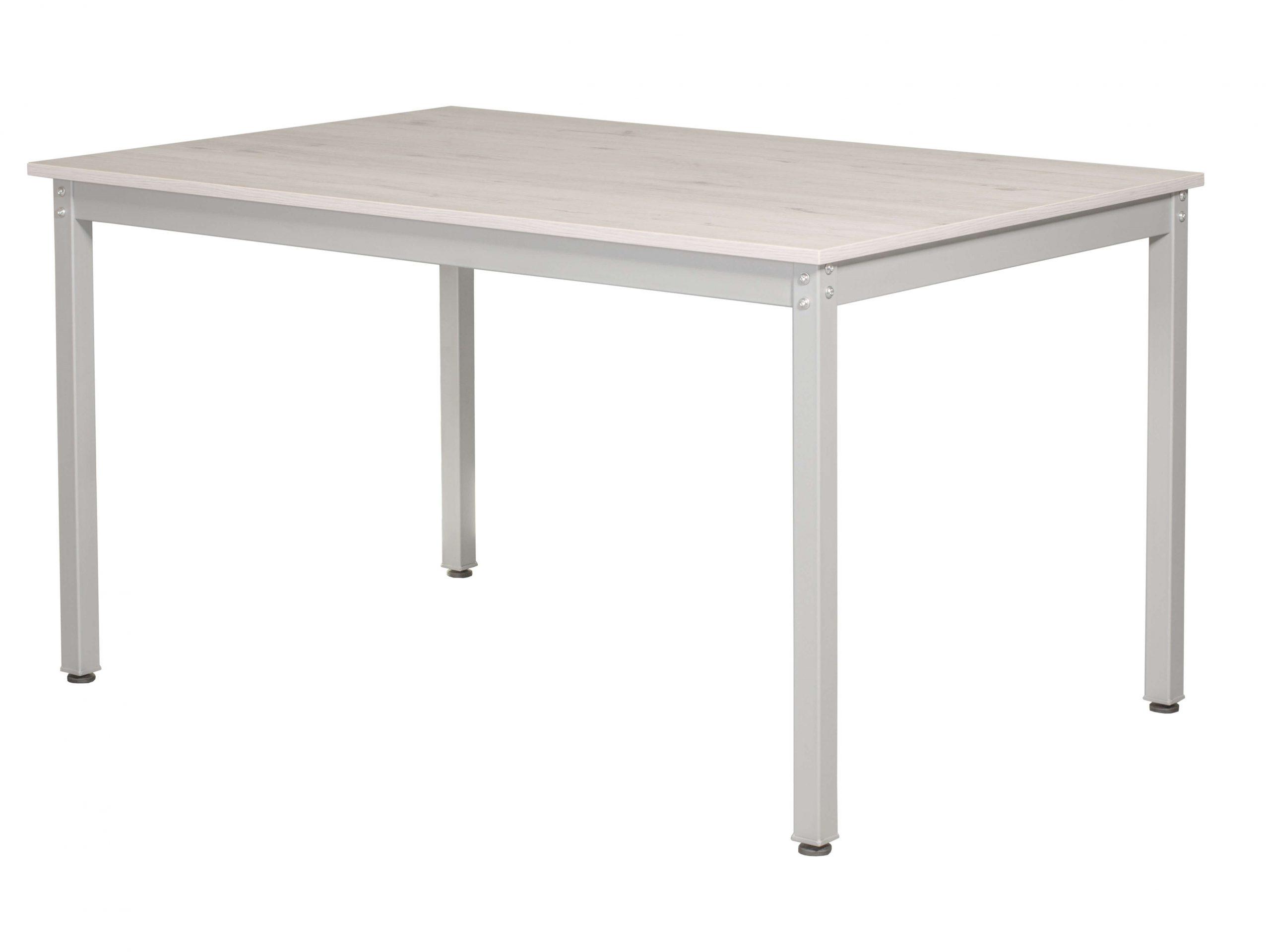 Konferencinis stalas Hugo 120x80 cm su metalinėmis kojomis.