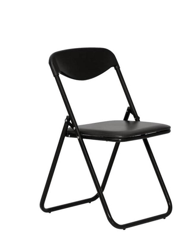 Sulankstoma kėdė Jack black su paminkštinta sėdyne.