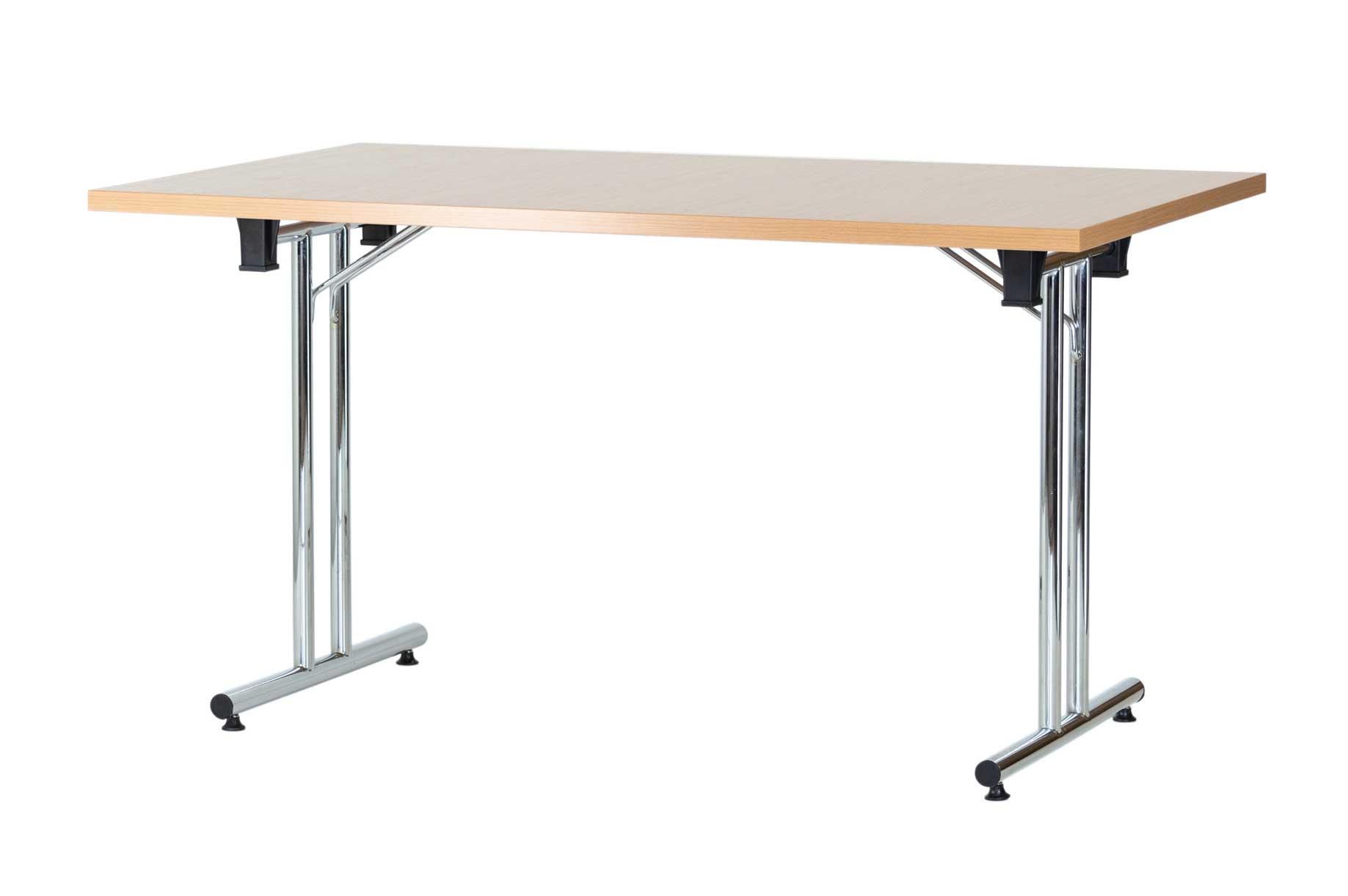 Konferencinis stalas Fold 160x80 cm su užlenkiamomis kojomis.