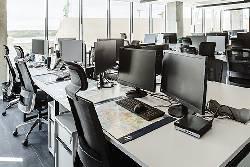 Ergonomiškos darbo kėdės Hegelmann Transporte biure,